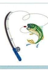 Quilling Card Gone Fishing