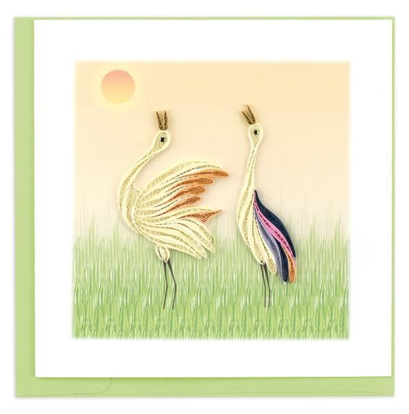 Quilling Card Two Cranes