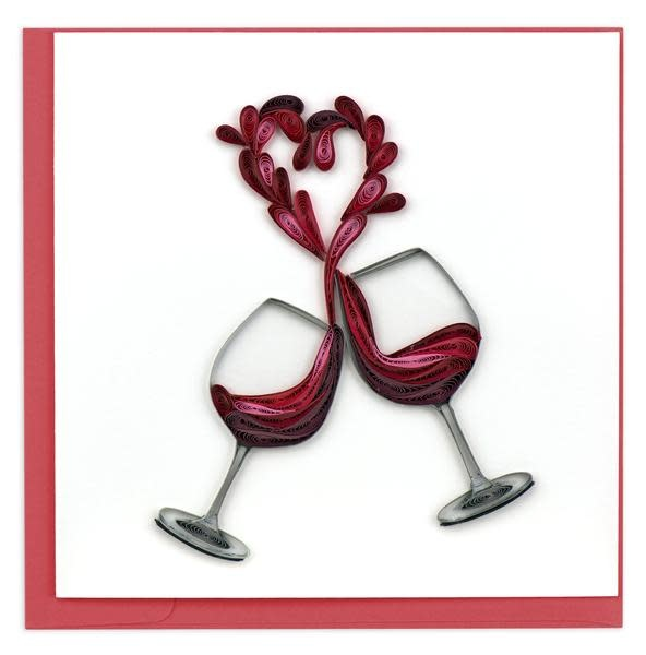 Quilling Card A Toast to Love