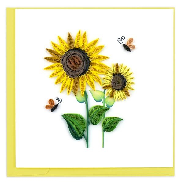 Quilling Card Sunflower
