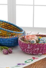 Round Gold Chindi Basket