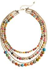 Five-Strand Sari Bead Necklace
