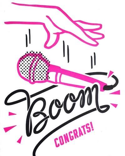 Mic Boom Congrats