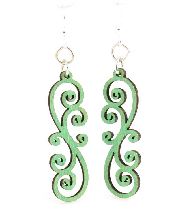 Scrolly Vine Blossom Earrings