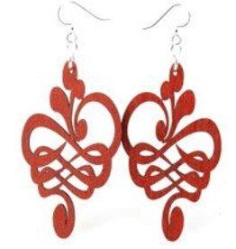 Calligraphy Flower Earrings