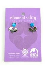Lotus Flower Ear Jacket Stud Earrings