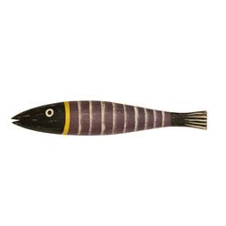 Wood fish Wall Art Purple