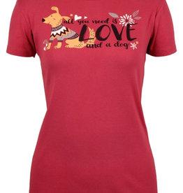 Love and a Dog SS Tee