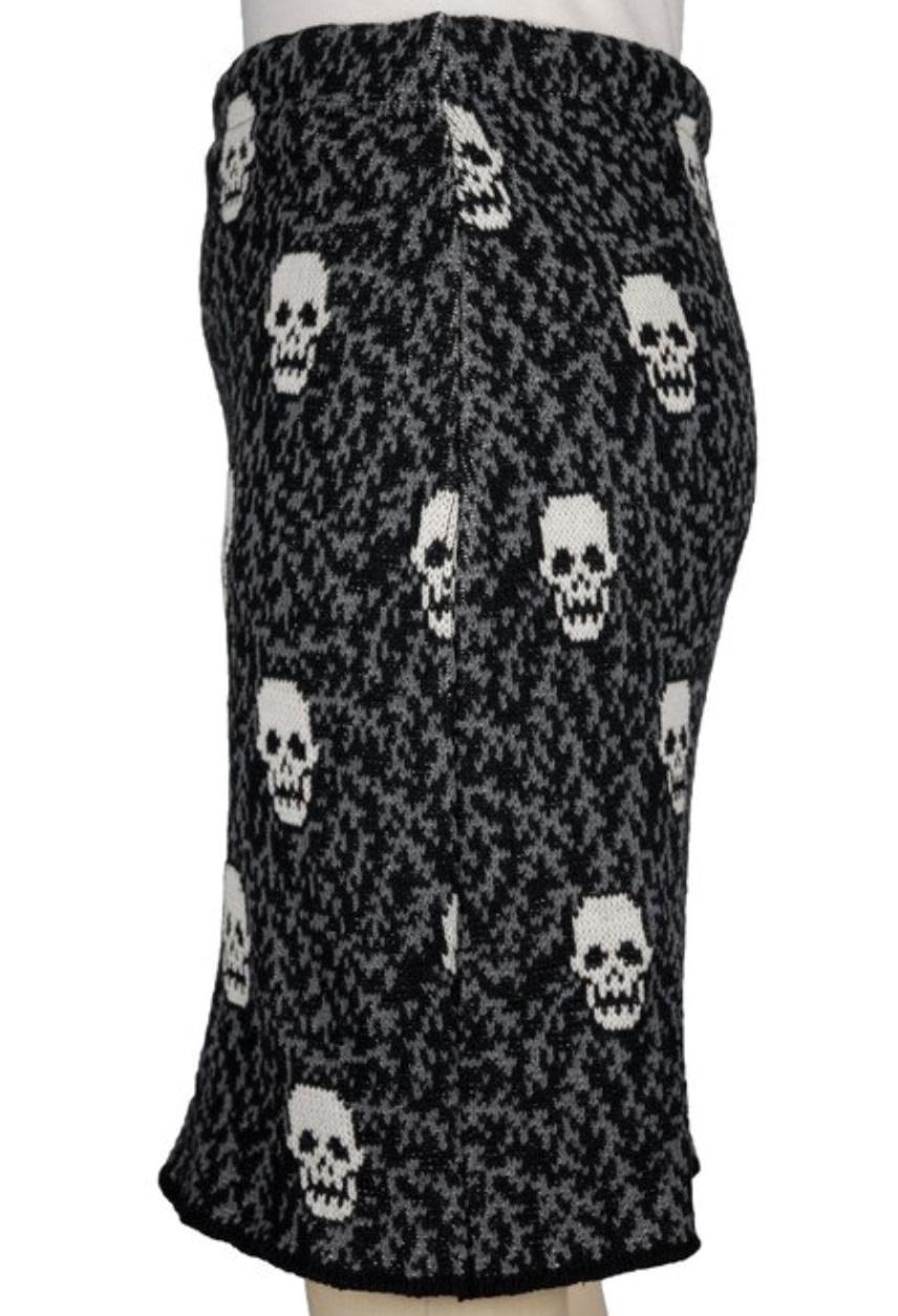Skulls Pencil Skirt