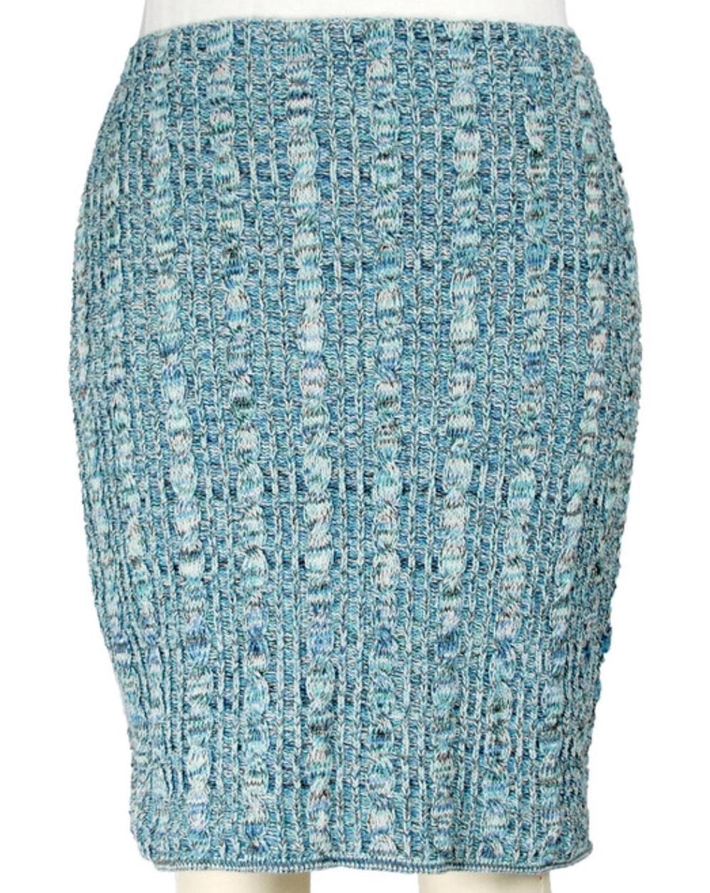 Space Dye Pencil Skirt