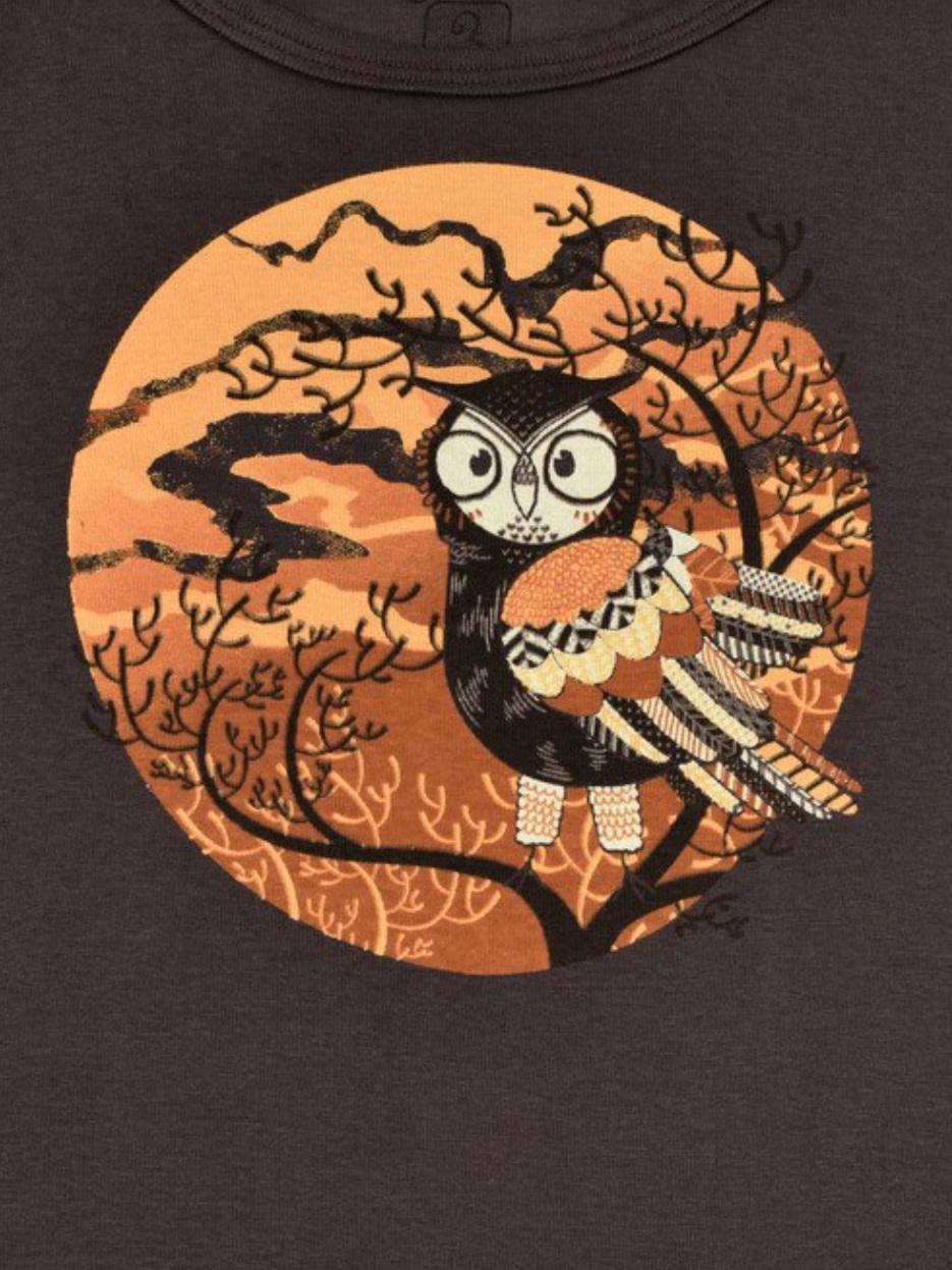 Autumn Owl LS Tee