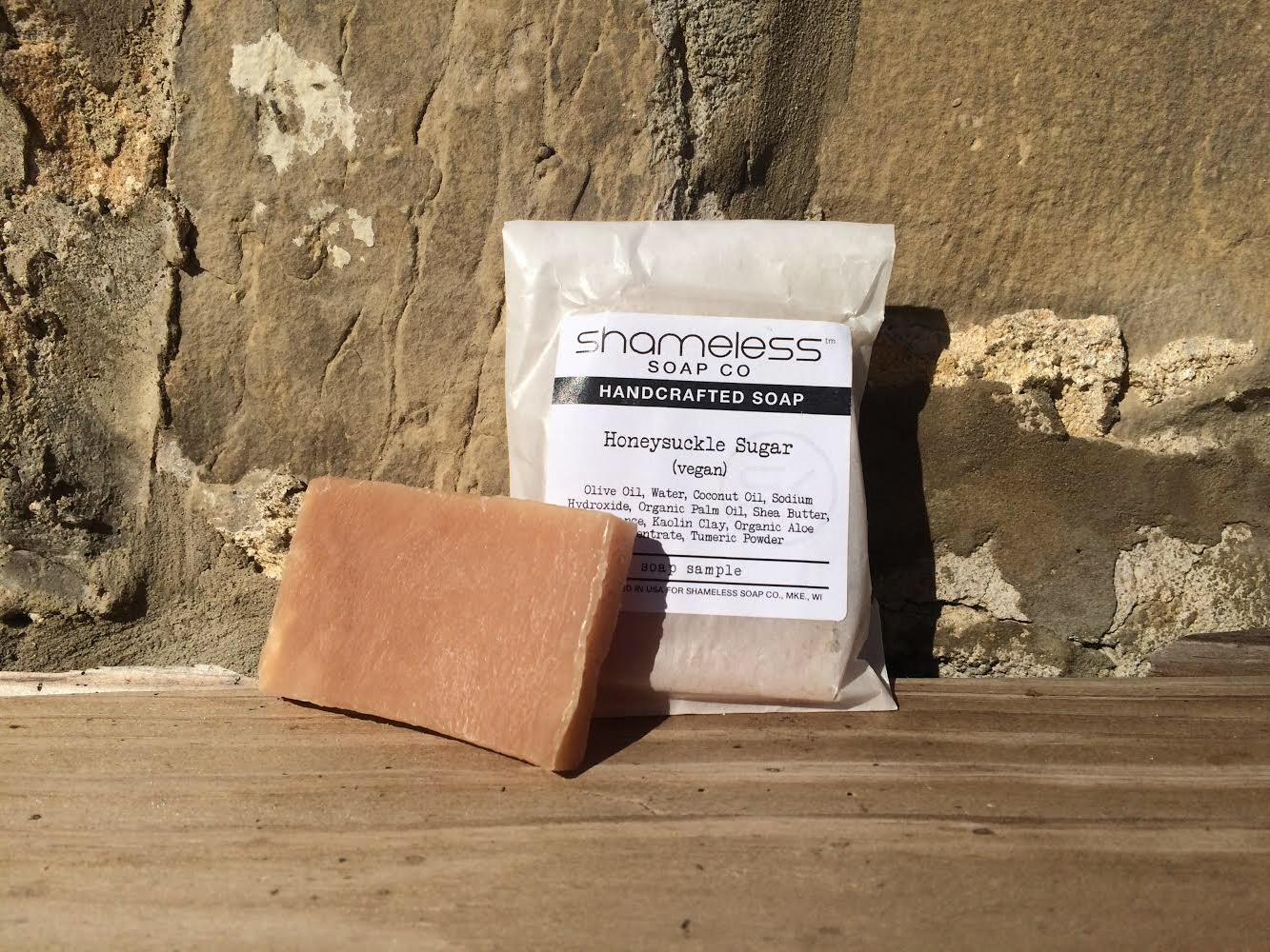 Shameless Soap Co Honeysuckle Sugar Sample Soap