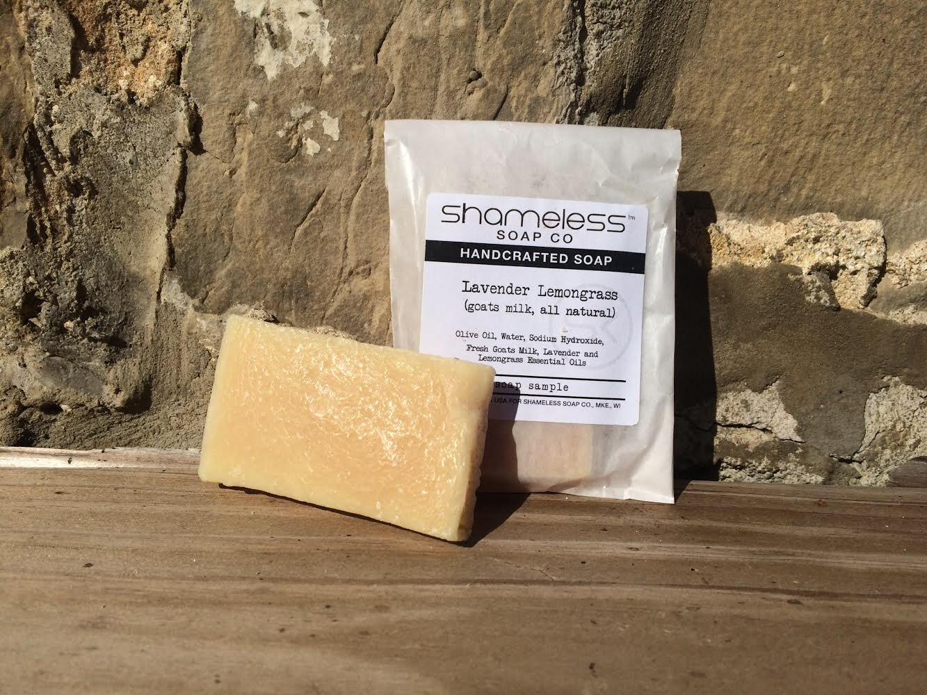 Shameless Soap Co Lavender Lemongrass Sample Soap