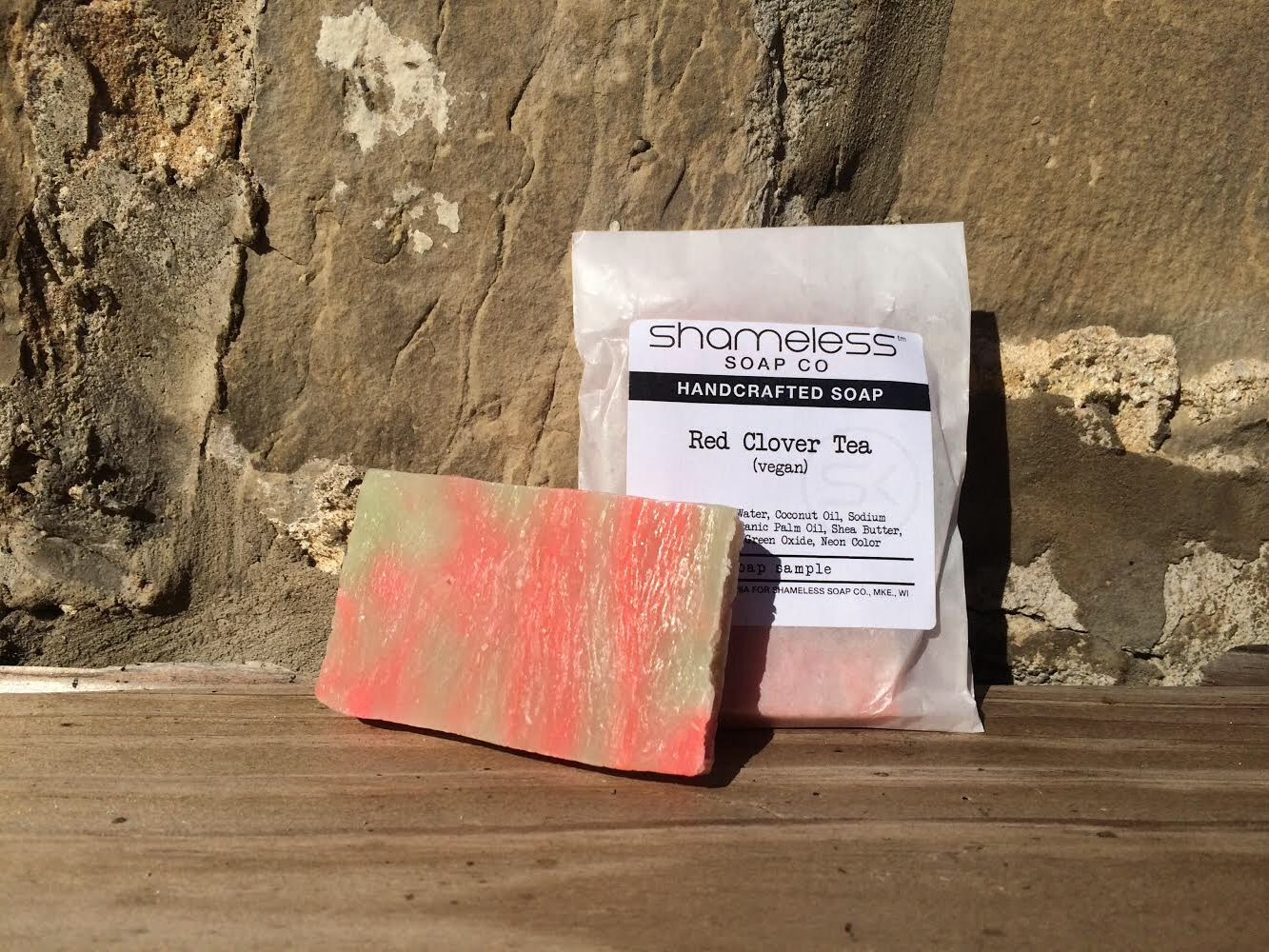 Shameless Soap Co Red Clover Tea Sample Soap