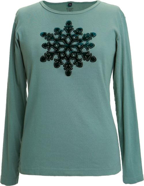 Green 3 Apparel Velvet Snowflake
