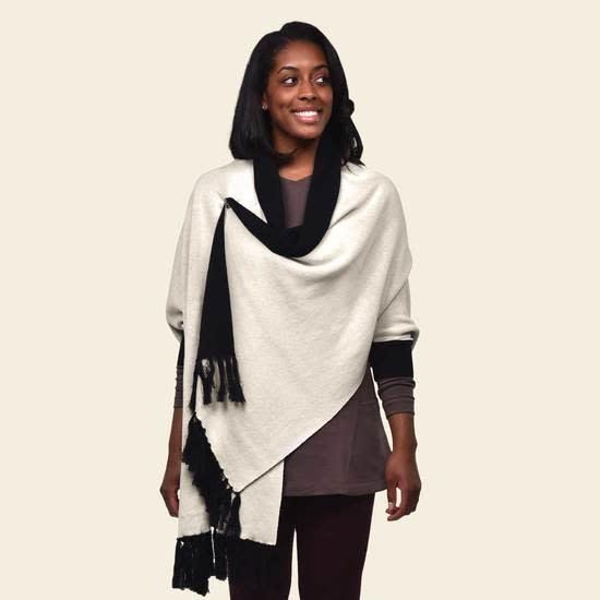 Reversible Sweater Shawl