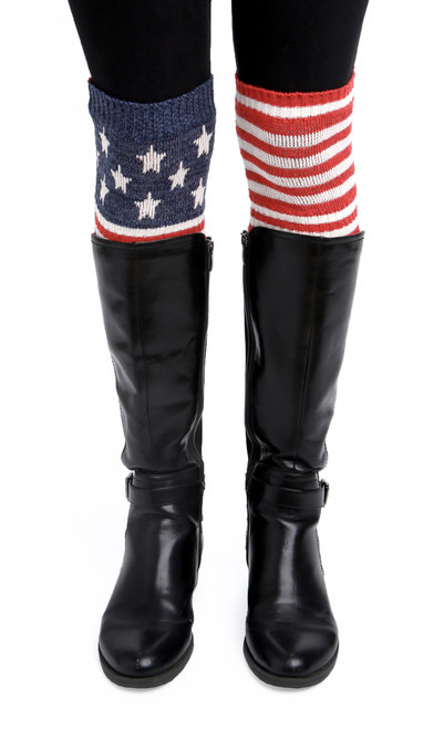 Stars and Stripes Boot Cuffs