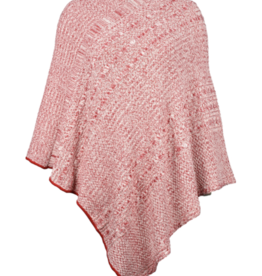 Cable Knit Poncho Featherweight Cherry