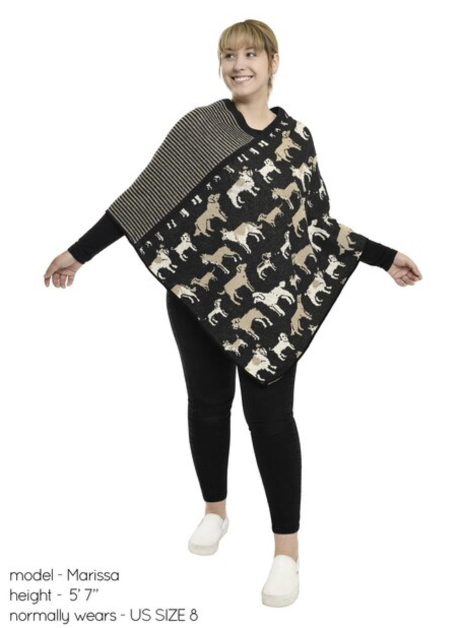 Knit Dog Poncho