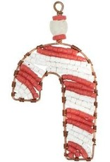 TS Beaded Ornaments Mini Candy Cane Red
