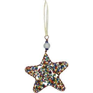 TS Beaded Ornaments Star Rainbow
