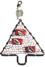 TS Beaded Ornaments Mini Tree White