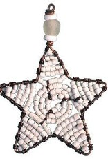TS Beaded Ornaments Mini Star White