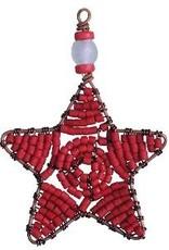 TS Beaded Ornaments Mini Star Red