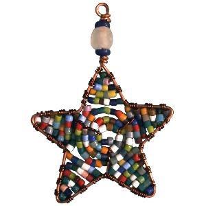 TS Beaded Ornaments Mini Star Rainbow