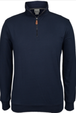 Men's Jersey Knit Zip Neck Top