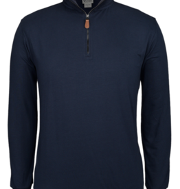 Men's Jersey Knit Zip Neck Top