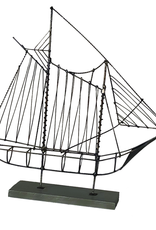 Wire Sailboat Gray