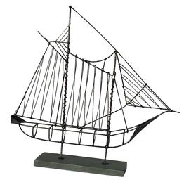 Wire Sailboat Gray