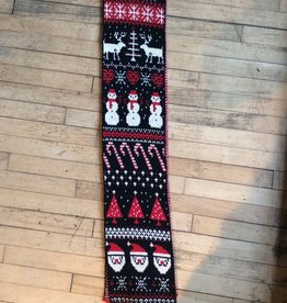 Red & Black Christmas Scarf