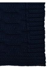 Green 3 Apparel Natural Cotton Textured Blanket - Navy