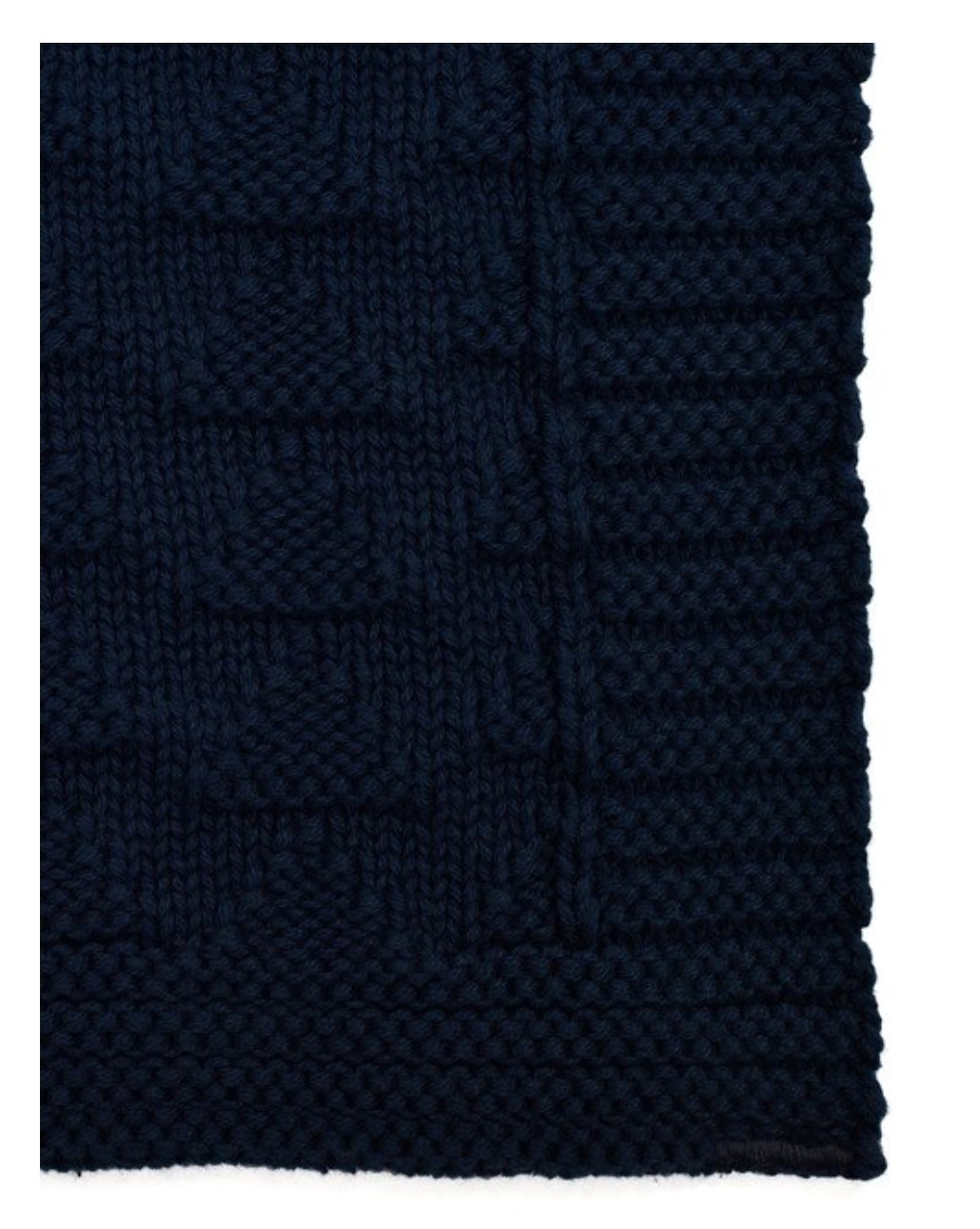 Green 3 Apparel Natural Cotton Textured Blanket - Navy
