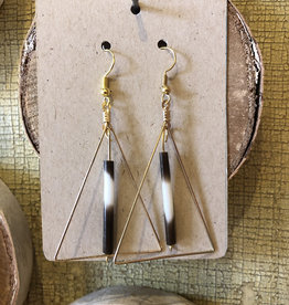 Quill Triangle Dangle Earrings
