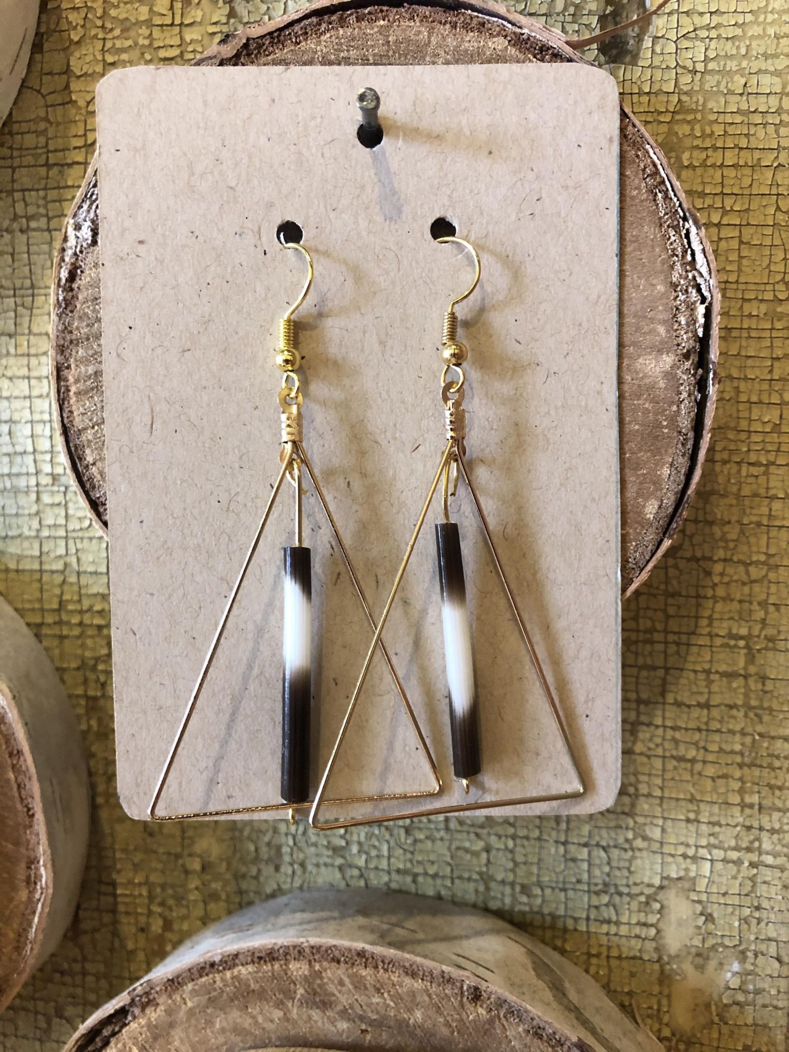 Ziggywear Quill Triangle Dangle Earrings