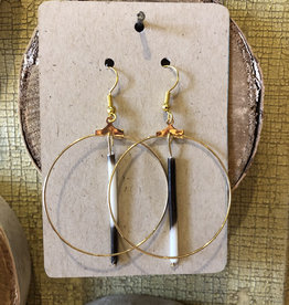 Quill Circle Dangle Earrings