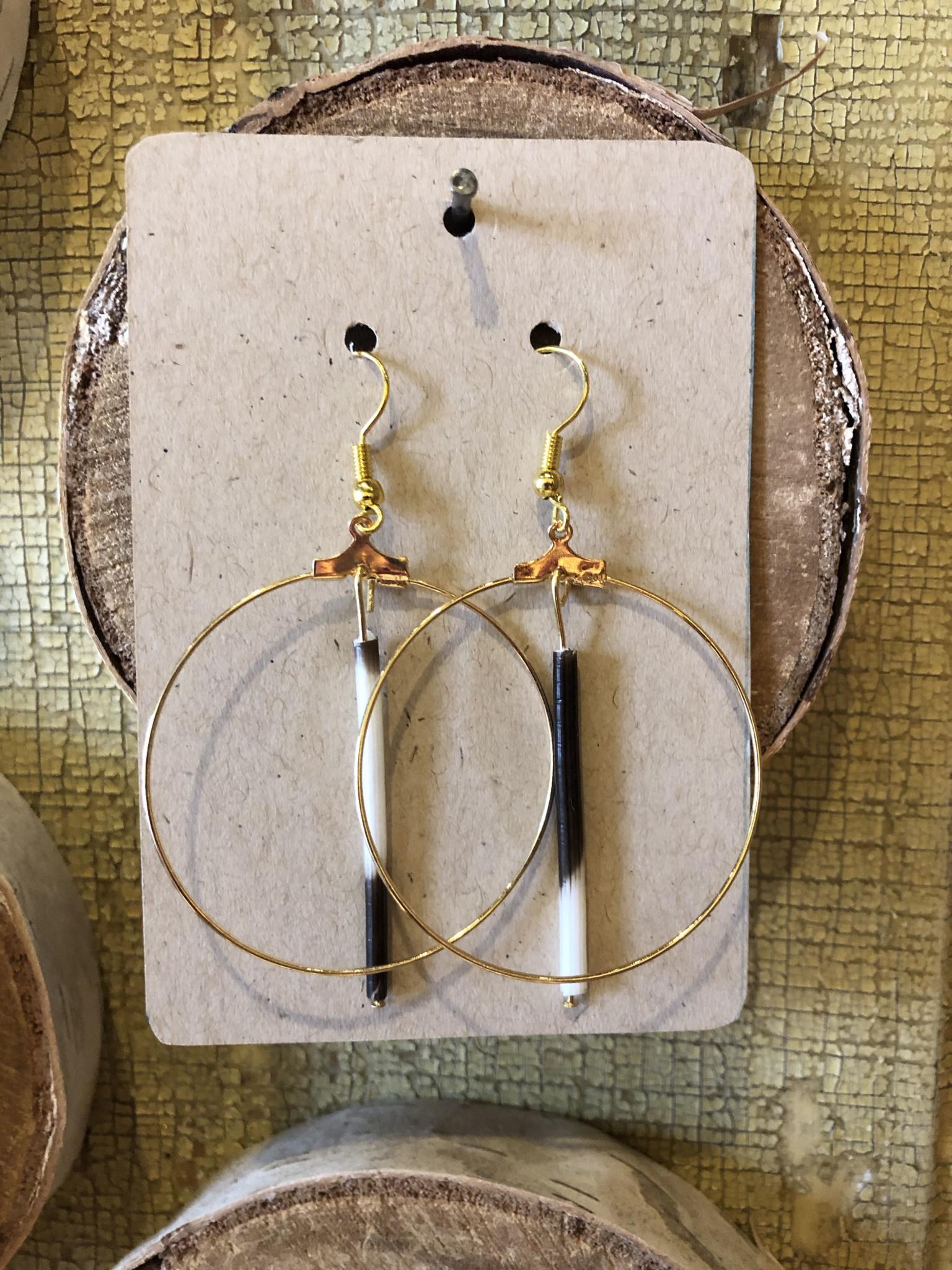 Quill Circle Dangle Earrings
