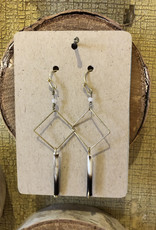 Diamond Shape Quill Earrings