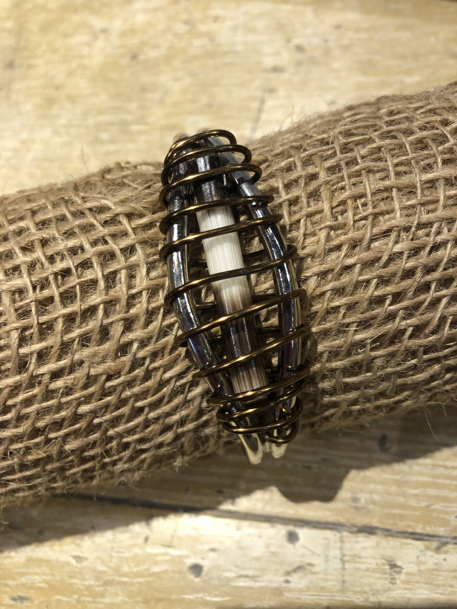 Wire Wrap Quill Cuff