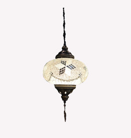 "9"" Hanging Mosaic Lamp"