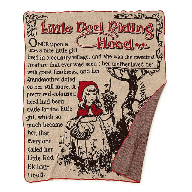 Green 3 Apparel Little Red Riding Hood Throw Blanket