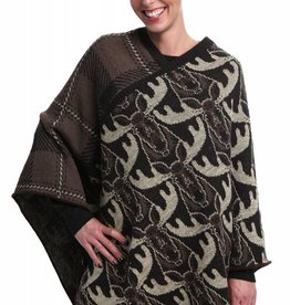 Green 3 Apparel Multi Moose Poncho