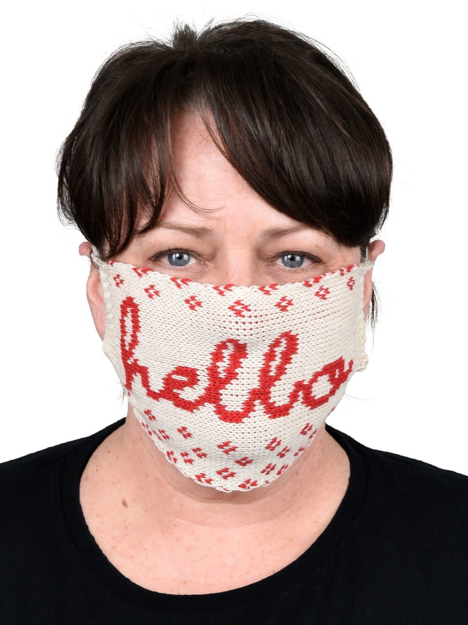 Green 3 Apparel Hello Sweater Knit Face Mask