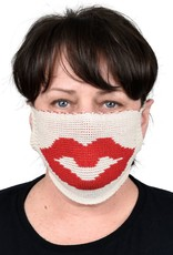 Green 3 Apparel Lips Sweater Knit Face Mask