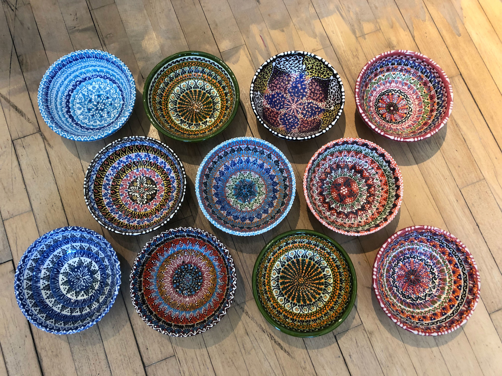 Natto Handpainted Lace Bowl