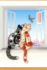 Quilling Card Two Cats Quilling Card