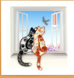 Quilling Card Two Cats